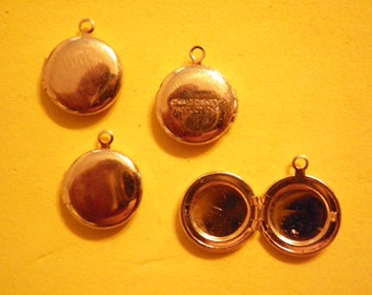 6 Vintage 20mm Goldplated Walt Disney Productions Signed Lockets