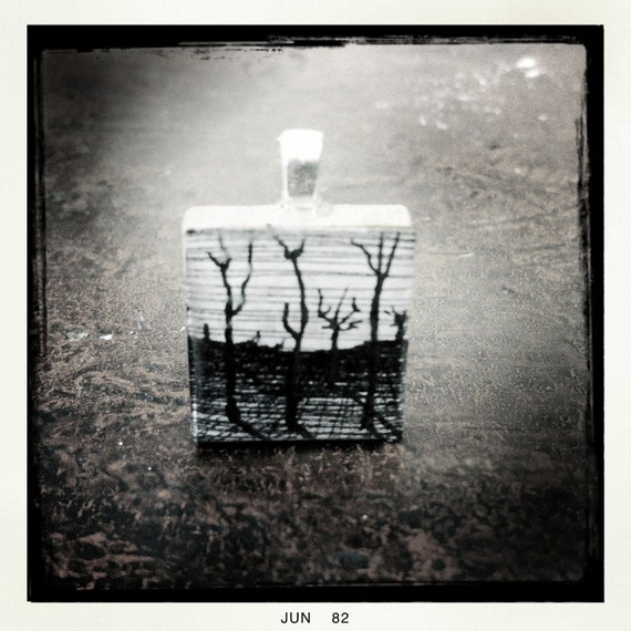 Items similar to Pen and Ink drawing on a wood tile ...