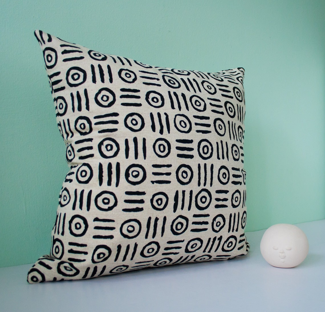 Black And Beige Decorative Pillows : Beige black decorative throw pillow cover modern by pillowdy