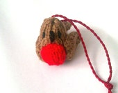 Hand Knitted Robin Christmas Ornament