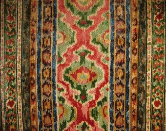BRUNSCHWIG & FILS SAVONNERIE Velvet Fabric 10 Yards Moss Clay Multi