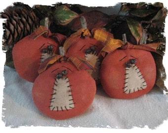 Primitive Halloween Punkin Ornie/Bowl Fillers E-Pattern