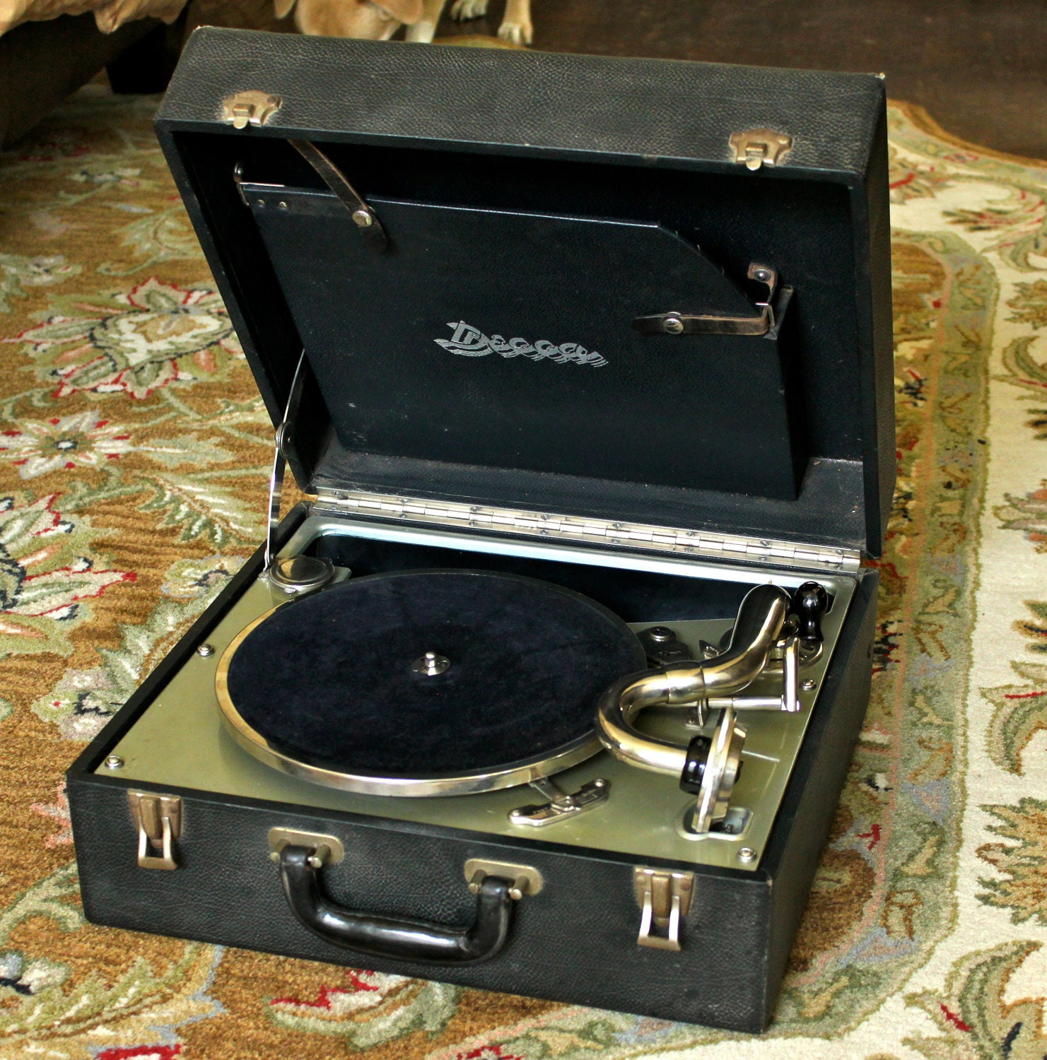 Vintage Decca Wind Up Portable Record Player By Gaelicmal