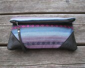 leather clutch, woven clutch, fold-over clutch