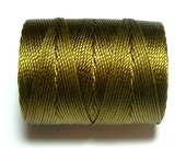 Bronze C-Lon Bead Cord, 1 Bobbin of 92 Yards - Item 697