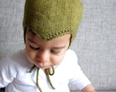 Classic knitted hat in organic cotton, knitted helmet hat, hat for kids, summer hat, size 0-3 months