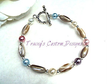 Womens Stone & Multi Colored Pearls - CUSTOM SIZING AVAILABLE