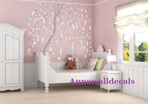 Cherry blossom tree wall decalwall decals children by annaandnana
