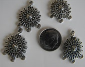 2 Beautiful Antiqued Dangle for Earrings or a Necklace
