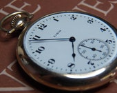 1920 Elgin 15 Jewel 12S - WORKING Pocket Watch- Half Hunter Case B&B Royal - Collectible Jewelry- Antique American Timepiece