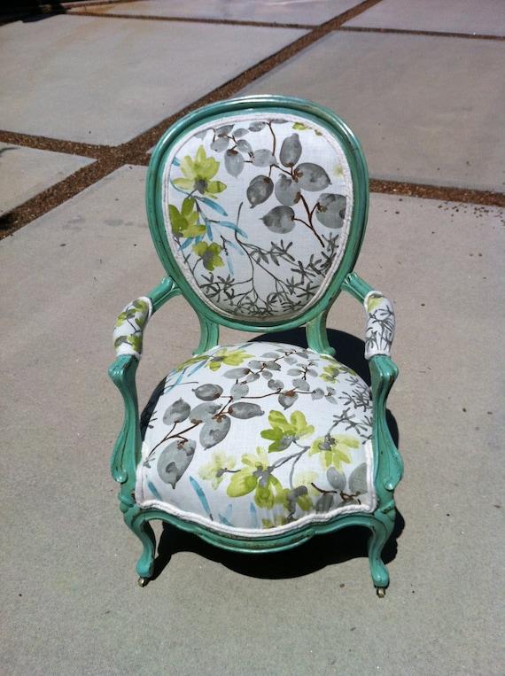 Original Vintage Rococo Revival Circa 1850 Arm Chair: CLAUDIA