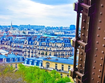 View from the Eiffel Tower,Paris,France,multiple sizes available-parisian,skyline, view, architecture,cityscape,landscape