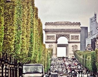 Arc de Triomphe,Fine Art Photography,Paris,France,multiple sizes available-parisian,Arc de Triomphe,architecture,Street,City,vintage feel