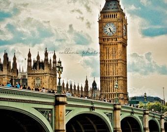 Big Ben and Bridge,London,England-Fine Art Photography-Multiple Sizes Available,Travel,London,Big Ben,Color,Architecture