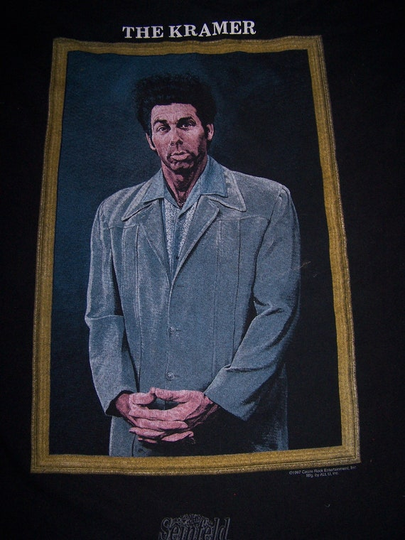 SALE vtg The Kramer Seinfeld framed art t shirt XL by ...