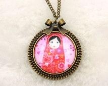 Necklace Russian matryoshka doll 2525C