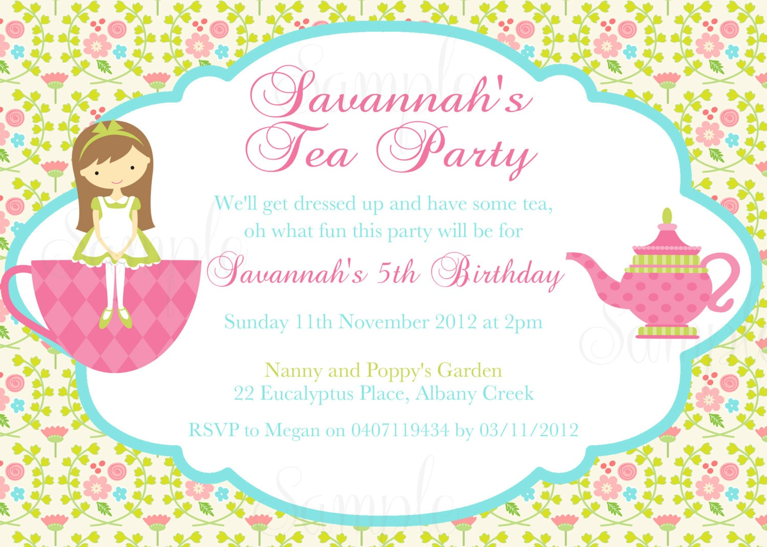 Afternoon Tea Party Invitations Uk as good invitation design