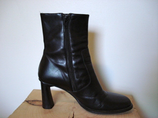 Vintage Womens Boots 1990s 90s Italian by vagabondsvintageuk |1990s Womens Boots