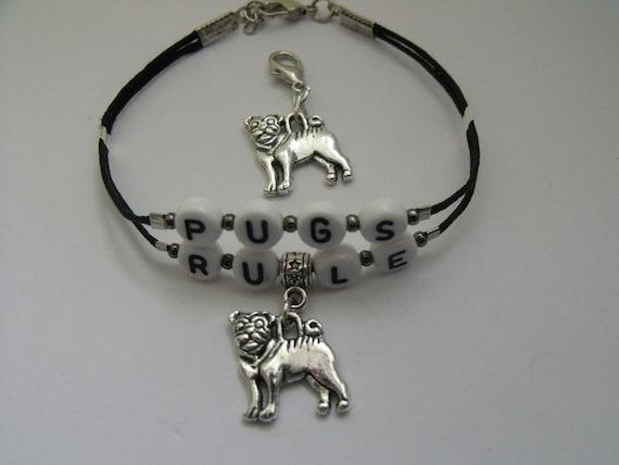 Pug Bracelet Set