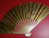 Peace & Time Hand Painted Fan