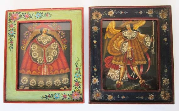 Vintage Spanish Saint Oil Paintings Hand By Artistryinteriors