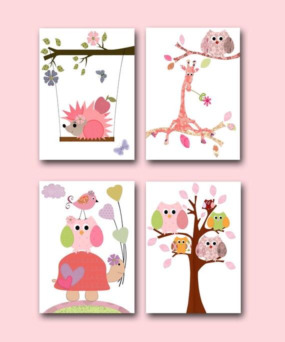 Wall Decor For Baby Girl : Kids decor wall art baby girl nursery room