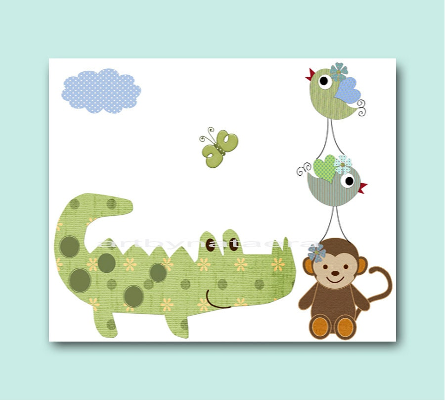 Wall Decorations For Baby Shower : Baby shower gift nursery decor art for children kids wall