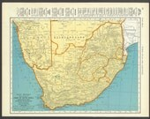 Vintage Map South Africa From 1937 Original