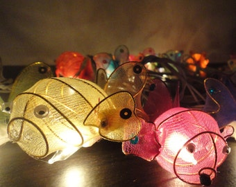 20 Nemo Fish Animal Art Multi Colour Fairy Lights String Cute Baby Party Patio Wedding Floor Table Hanging Gift Home Decor Living Bedroom