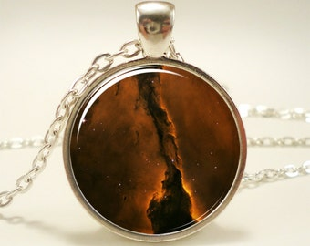 Eagle Nebula Necklace, Galaxy Jewelry, Universe Pendant (1161S1IN)