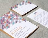 Wedding Invitations Modern Geometric