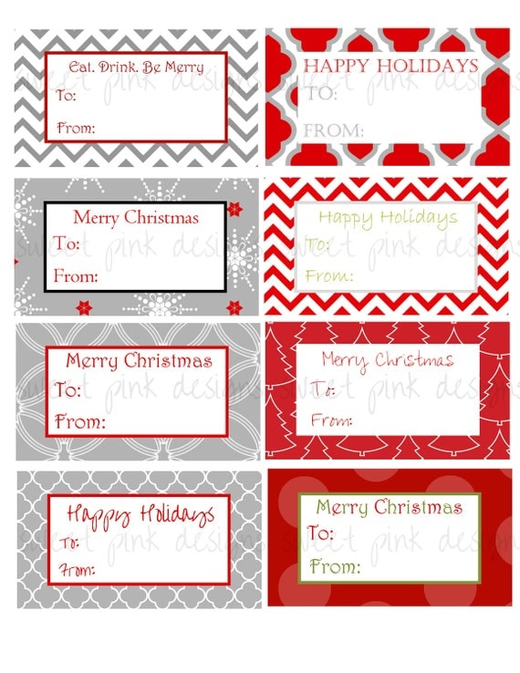 Items Similar To Modern Christmas Gift Tags On Etsy