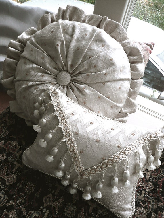 Decorative Bed Pillow Designer Sofa Cushions Two Decorator