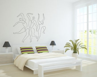 Wall Art inspired by Picasso's Mercury (Etude pour Mercure) XXL vinyl wall decal - removable wallpaper (ID: 111007)