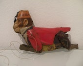 Line Mar Jocko the Climbing Monkey - OLD TIN TOY