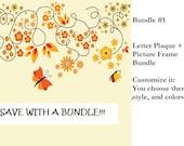 Custom Made Nursery Art/Letters/Picture Frame  (Bundle)