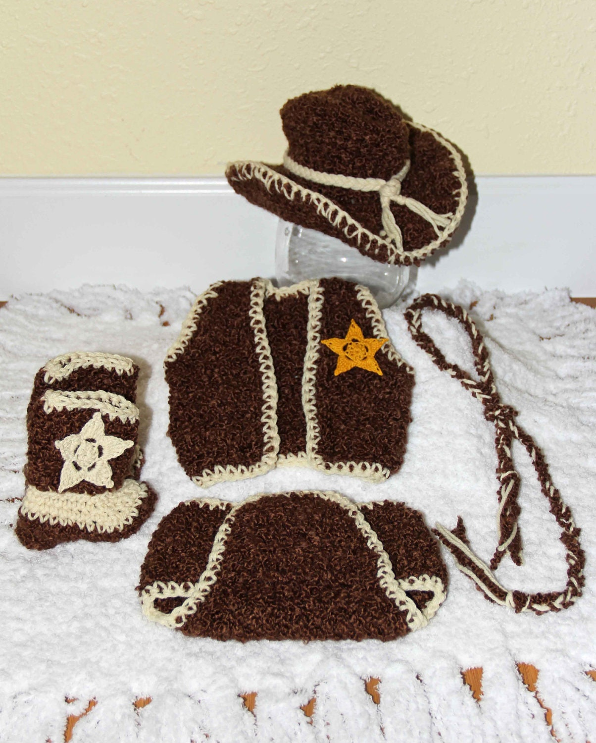 Baby Cowboy Outfit by TwinkleStarPhotoProp on Etsy