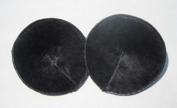 SALE - Contoured Nursing Pads - Organic Bamboo Velour OBV  - One Pair - Ready To Ship