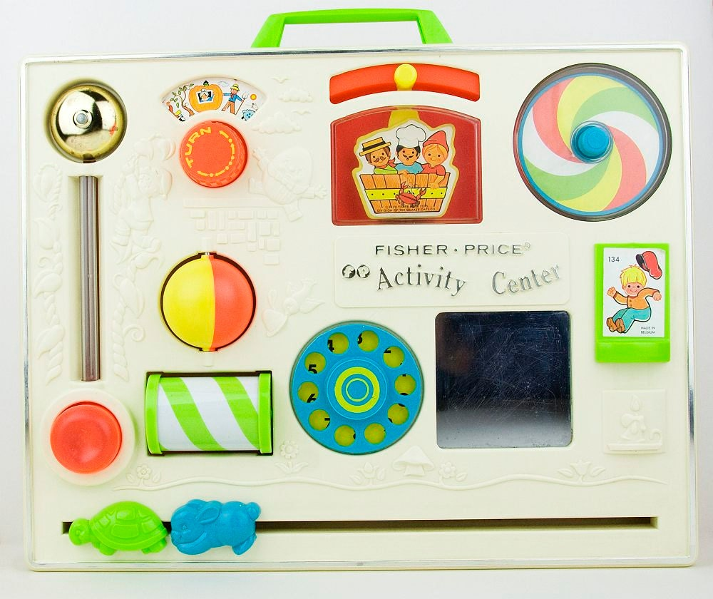 items similar to vintage fisher price activity center. Black Bedroom Furniture Sets. Home Design Ideas