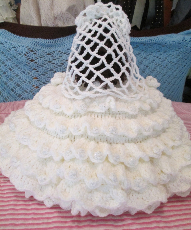 Vintage Wedding Dresses Omaha Ne: Crochet Bed Pillow Doll Bride By PeggysDollShoppe On Etsy