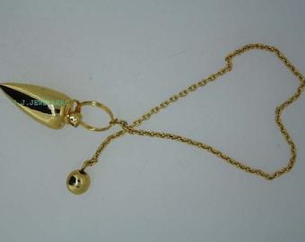 New Healing Brass pendulum With Brass Pagan ET A1/13