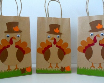 TURKEY goodie bag / Thanksgiving goodie bag / Animal farm party / thanksgiving party