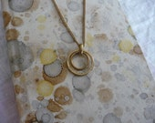 Brass Ring Double Circle Necklace