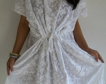 Flawless Kaftan in white,Perfect gift for her.