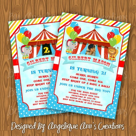 Circus Invitation Ideas was great invitations template