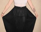 Black sheer maxi skirt