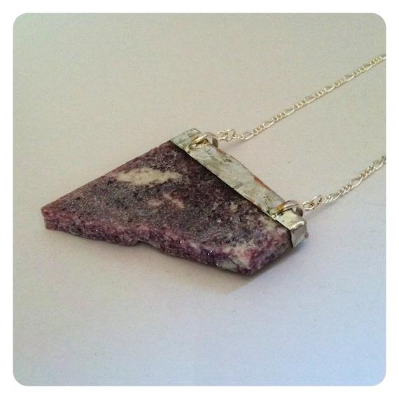 Lepidolite mineral necklace