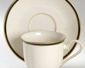 Lenox Urban Lights Footed Tea Cup & Saucer Set