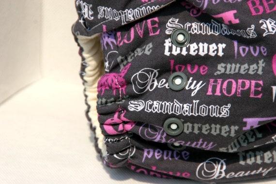 Organic Cotton Rock A Bye Princess One Size Coth Diaper