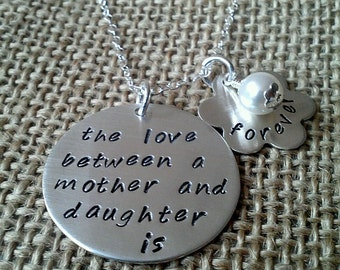 Mother Daughter Necklace, Love Between Mother Daughter Necklace, Mother Gift, Daughter Gift